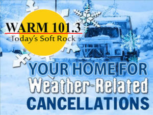 Weather Closings and Cancellations - WARM 101 3