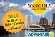 WARM 101.3's Listener Favorites!
