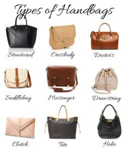 Handbag types