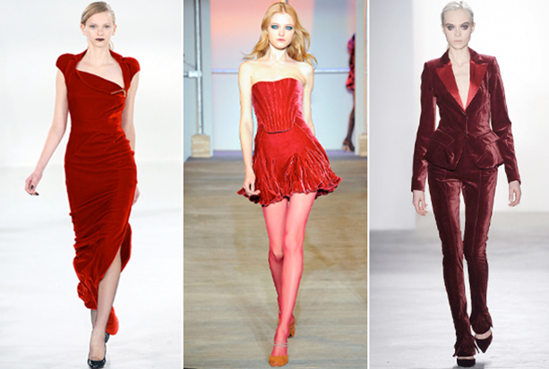 velvet- red fashion-trend