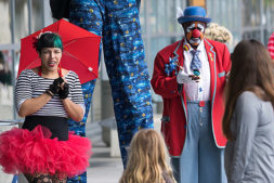 The Solution to Long TSA Lines Is . . . Clowns and Music?