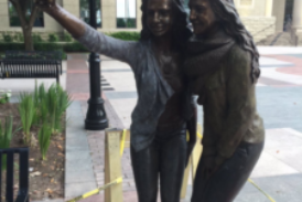 A City in Texas Put Up a Statue of Two Girls Taking a Selfie