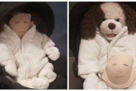 A Shoplifter Made a Fake Baby By Drawing a Face on a Bra