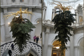 Upside-Down Christmas Trees Are Becoming a Big Trend This Year
