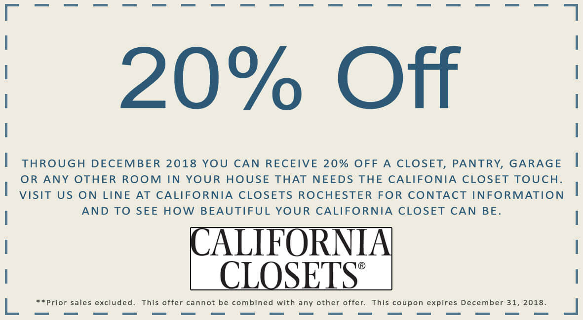 California Closets COUPON ...