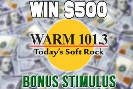 Warm 101.3's Bonus Stimulus is Back!