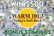 Warm 101.3's Bonus Stimulus!