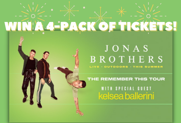 Jonas Brothers 4-Pack Ticket Giveaway!